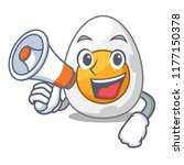 with megaphone cartoon boiled... | Shutterstock .eps vector #1177150378
