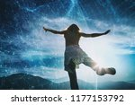 woman person jumps on top of... | Shutterstock . vector #1177153792