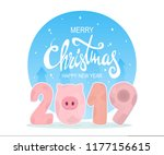 merry christmas and happy new...   Shutterstock .eps vector #1177156615