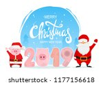 merry christmas and happy new...   Shutterstock .eps vector #1177156618