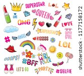 pop art fashion girls party... | Shutterstock .eps vector #1177158172