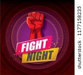 fight night vector modern... | Shutterstock .eps vector #1177158235