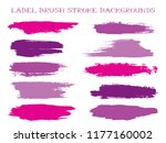 craft label brush stroke... | Shutterstock .eps vector #1177160002