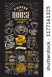 coffee restaurant menu vector... | Shutterstock .eps vector #1177161325