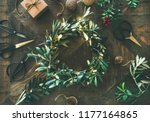 getting ready for christmas.... | Shutterstock . vector #1177164865