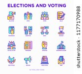 election and voring thin line... | Shutterstock .eps vector #1177170988