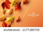 autumn seasonal background...   Shutterstock .eps vector #1177180735
