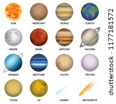 planets icon set. realistic set ...   Shutterstock .eps vector #1177181572