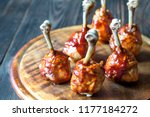 chicken drumsticks in barbecue... | Shutterstock . vector #1177184272