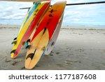 surfboards in jericoacoara | Shutterstock . vector #1177187608