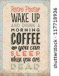 retro vintage coffee tin sign... | Shutterstock .eps vector #117718936