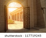 mystic view of gate with... | Shutterstock . vector #117719245