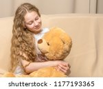 beautiful little girl... | Shutterstock . vector #1177193365