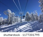 Ski Chair Lift Ascends Over...