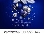 blue christmas composition | Shutterstock .eps vector #1177202632