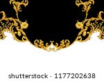 golden baroque decorative... | Shutterstock . vector #1177202638