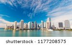 aerial view of miami... | Shutterstock . vector #1177208575