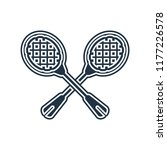 racket icon vector isolated on... | Shutterstock .eps vector #1177226578