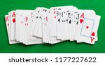 deck of playing cards spread... | Shutterstock . vector #1177227622