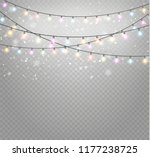 christmas lights isolated... | Shutterstock .eps vector #1177238725
