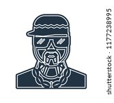rapper icon vector isolated on... | Shutterstock .eps vector #1177238995