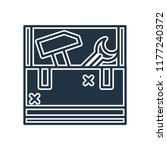 toolbox icon vector isolated on ... | Shutterstock .eps vector #1177240372