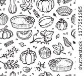 thanksgiving vector background. ... | Shutterstock .eps vector #1177251385