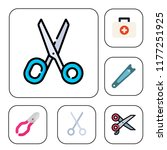 scissors icon set. scissors... | Shutterstock .eps vector #1177251925