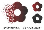 flower icon in fractured ... | Shutterstock .eps vector #1177256035