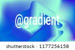 fluid shapes. liquid neon... | Shutterstock .eps vector #1177256158