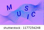 music wave design. music summer ... | Shutterstock .eps vector #1177256248
