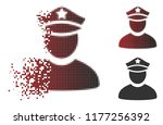 policeman icon in dispersed ...   Shutterstock .eps vector #1177256392