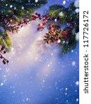 Blue Christmas Snow Background  ...