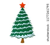 tree xmas isolated icon.... | Shutterstock .eps vector #1177261795