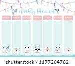 pastel weekly calendar planner... | Shutterstock .eps vector #1177264762