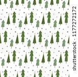 christmas theme seamless... | Shutterstock .eps vector #1177272172