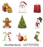 christmas icons set.vector... | Shutterstock .eps vector #117727252