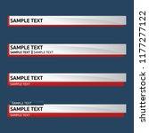 lower third design template.... | Shutterstock .eps vector #1177277122