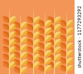 wheat spikes pattern background | Shutterstock .eps vector #1177293292