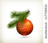 christmas decorations  vector | Shutterstock .eps vector #117730522