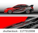 car wrap graphic vector.... | Shutterstock .eps vector #1177313008