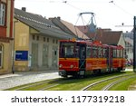 tourist sightseeing trolley in... | Shutterstock . vector #1177319218