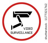 video surveillance sign  cctv | Shutterstock .eps vector #1177321762