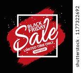 black friday sale design... | Shutterstock .eps vector #1177322692