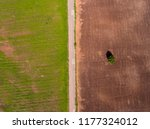 aerial top down directly above... | Shutterstock . vector #1177324012