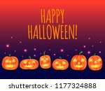happy halloween calligraphy... | Shutterstock .eps vector #1177324888