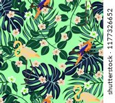 tropical seamless pattern with... | Shutterstock .eps vector #1177326652