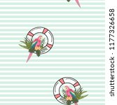 sea pattern with parrot  life...   Shutterstock .eps vector #1177326658