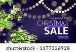 christmas sale web banner.... | Shutterstock .eps vector #1177326928