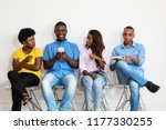 african american group of... | Shutterstock . vector #1177330255